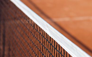 Der Rand eines Tennisnetzes