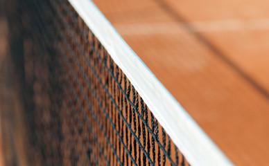 Tennisnetz ganz nah