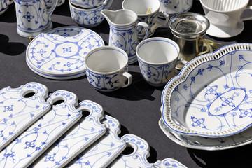 Porcelain set on sale at Aachen flea market