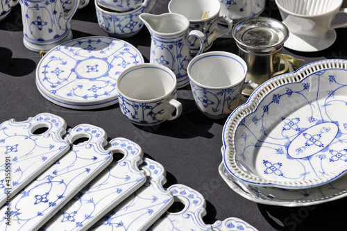 Porcelain set on sale at Aachen flea market