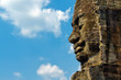 Angkor Face against blue sky, Angkor Thom, Cambodia