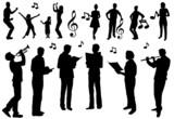 Fototapety Chor Gruppe Gesang Tanz Konzert Musik