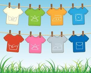 T-shirts _indications of washing