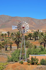 landscape of Antigua, Fuerteventura, Canary Islands, Spain