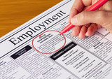 Job in the Employment Section of Newspaper
