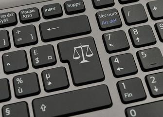 Touche de clavier juridique