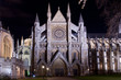 westminster abbey illuminated by night