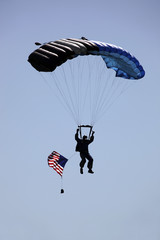 Silhouette Of Skydiver
