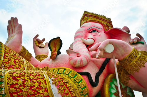 Elephant headed god statue in Thailand