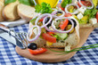 Griechischer Bauernsalat auf Ciabatta
