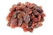 Dark Raisins Isolated on White Background