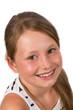 Portrait von hübschen brünetten Mädchen, freigestellt