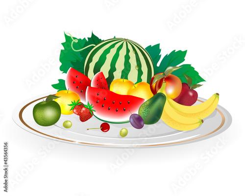 Piatto con Frutta