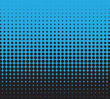 Fototapety Halftone blue and black, vector background for you design