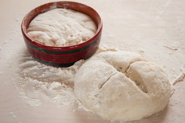 dough with sourdough _ Pasta con lievito madre
