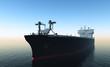 Fototapete Groß - Schwarz - Frachtschiff