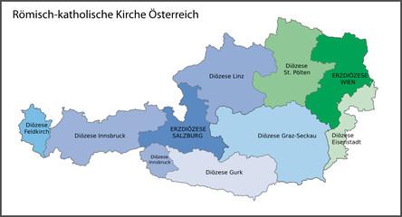 Diözesen der römisch-kath. Kirche, Österreich