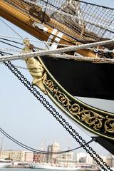 Detalle del buque Amérigo Vespucci