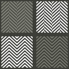 4 seamless swatches with lambdoidal herringbone patterns