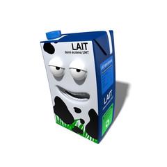 Brique de lait 3d