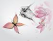 Fototapete Stift - Schmetterling - Papier / Karton