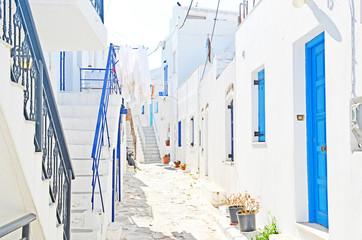 alley in Paros Greek holidays island