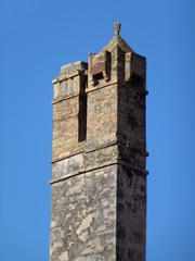Chimney of stone in Vis in Croatia
