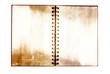 Grunge notebook isolated.