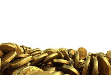 Falling Gold money, Finance 3d animation
