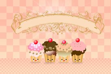 sfondo con cupcakes