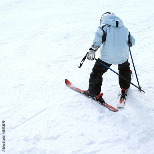 Skier on skis