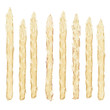 fresh rare white asparagus vegetable isolated