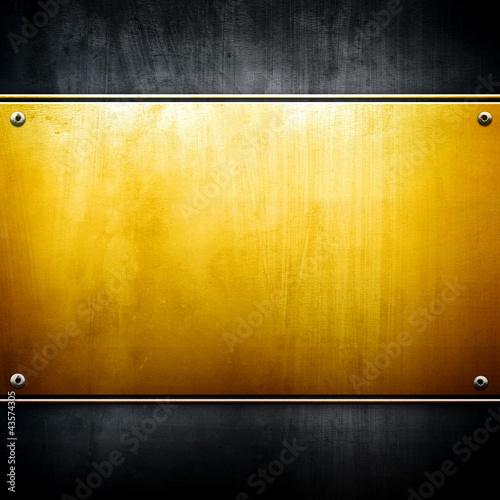 Leinwandbild Motiv golden plate
