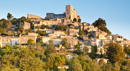 Sunrise over Lacoste in Provence