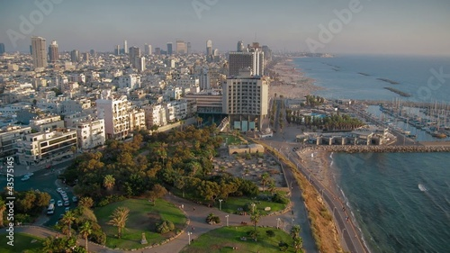 Time lapse Tel Aviv beach coastline
