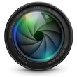 Camera photo lens with shutter. - 43575399