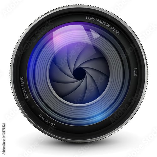 Camera photo lens with shutter. - 43575521