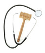 Judge's gavel and stethoscope