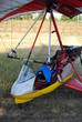 colorful hang gliders ready for the take off - 43576760