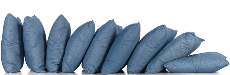 blue denim pillows