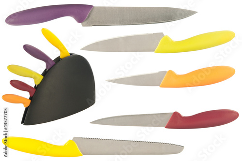 set of knives for the kitchen