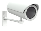 Security camera. 3D model isolated on white background
