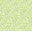 Seamless green leaf pattern. Vector