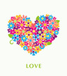 Beautiful floral heart. Vector