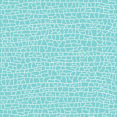 Seamless crackle blue pattern. Vector