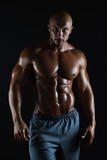Muscular male bodybuilder