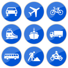 Verkehrsschilder blau