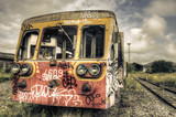 Fototapety Abandoned tagged railcar