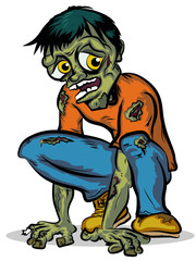 Crouching Zombie Character