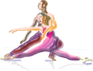 "dancers - quick ""vector"" brushes sketch"
